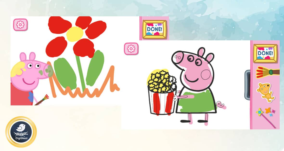 بازی Peppa Pig Paintbox
