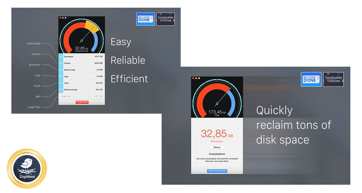 برنامه مک Disk Diag - Clean your hard drive with just a few clicks