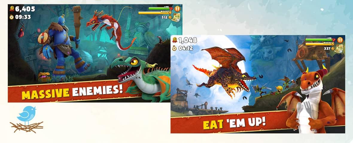 بازی اندروید Hungry Dragon