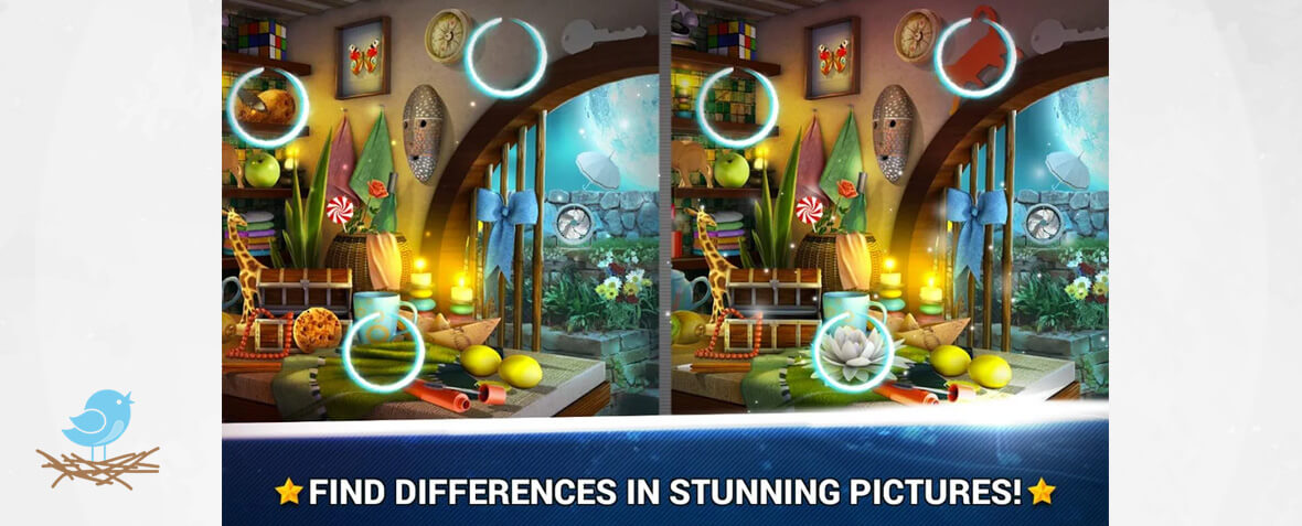 بازی پاذلی Find the Difference Rooms