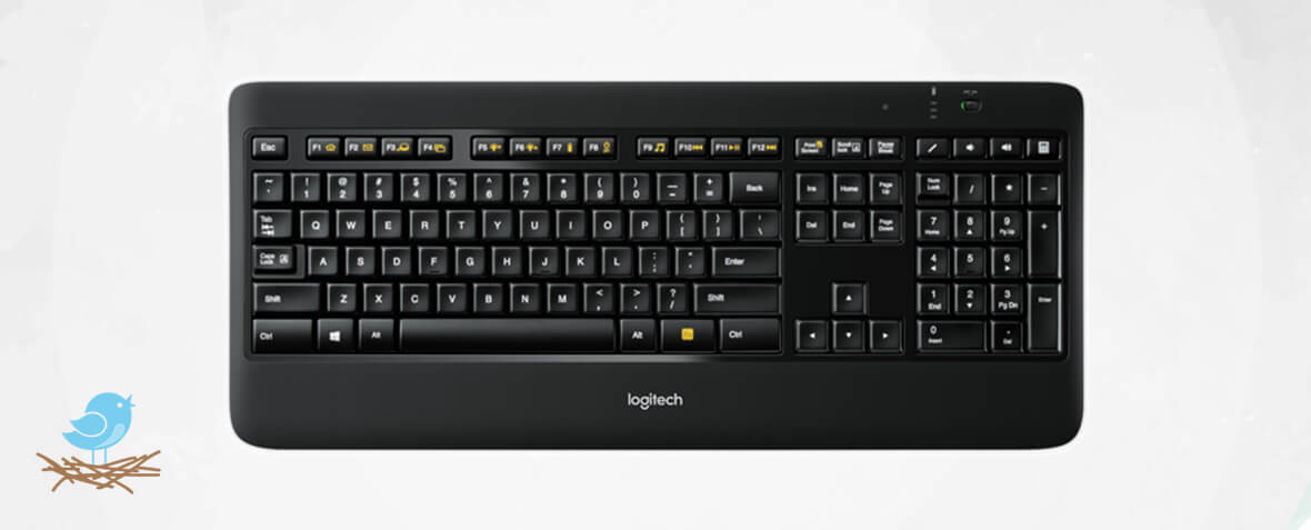 بهتری کیبورد بی سیم Logitech Wireless Illuminated Keyboard K800