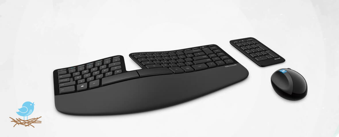 کیبورد خوش ساخت و مدرن Microsoft Sculpt Ergonomic Desktop Wireless Keyboard and Mouse