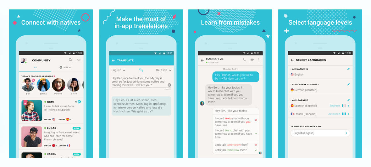 اپلیکیشن Tandem Language Exchange: Speak & learn languages