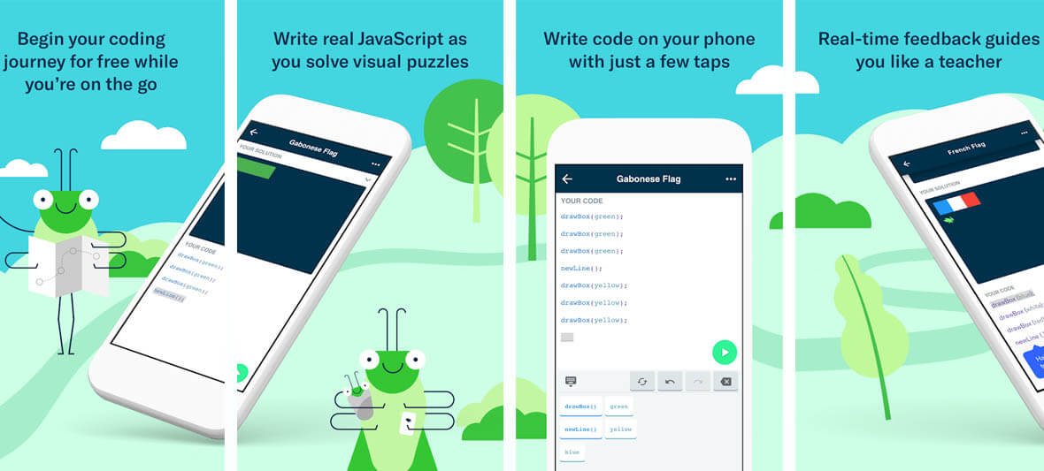 برنامه اندروید Grasshopper: Learn to Code for Free