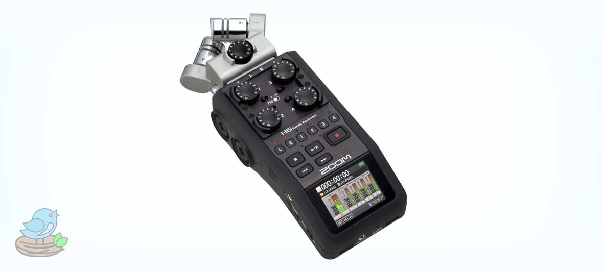 ضبط کننده صدا مدل Zoom H6 Professional Voice Recorder